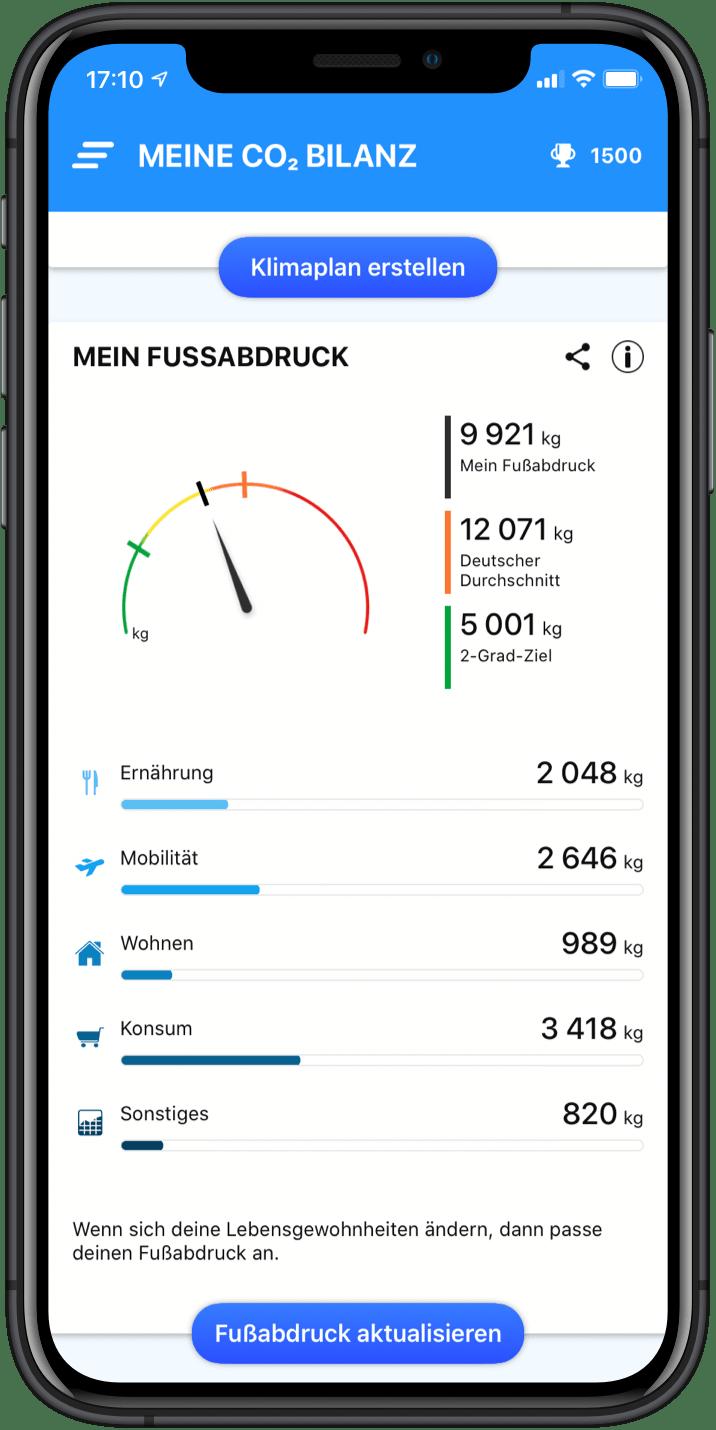 Berechne deinen CO₂-Fußabdruck und deine CO₂-Emissionen
